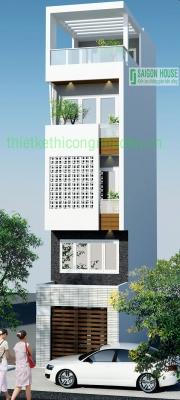 Thiết kế & Thi công nhà phố 5 tầng quận 3 Tp.Hcm