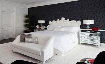 Những mẫu phòng ngủ lãng mạn với sắc đen