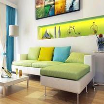 Thiết kế nội thất phòng khách mang sắc màu thiên nhiên
